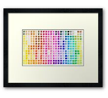 Crayon Color Chart Framed Print