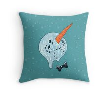 Summer Snowman Throw Pillow