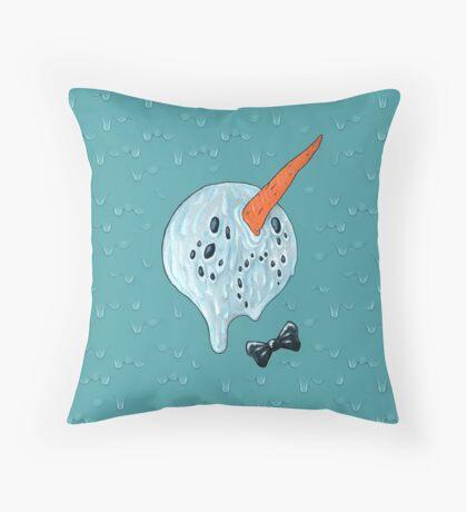 Summer Snowman Throw Pillow