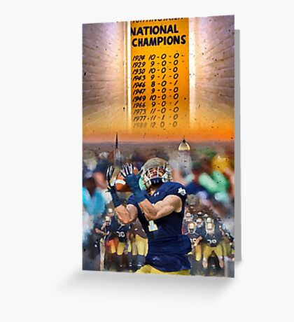 National Championships Notre Dame Greeting Card