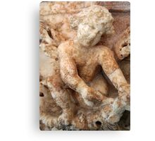 Ancient Marble Relief Of A Cherub Canvas Print