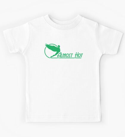 Almost Hot Beer Belly Angle Green Kids Tee