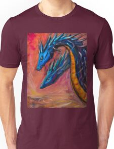 Blue Dragons original acrylic painting. Unisex T-Shirt