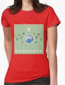 Nature world Womens Fitted T-Shirt