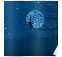 Spider at night Poster