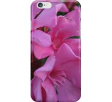 Closeup Shot of Pink Flowers on Oleander Shrub iPhone Case/Skin