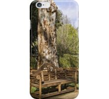 Bench at Lake Burley Griffin iPhone Case/Skin