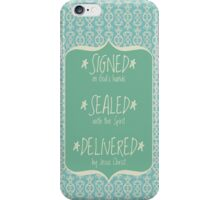 Signed Sealed Delivered Mint iPhone Case/Skin