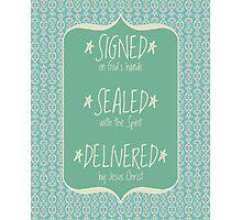 Signed Sealed Delivered Mint Photographic Print