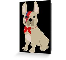 David Bowie French Bulldog art Greeting Card