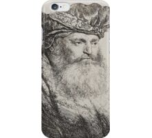 REMBRANDT HARMENSZ VAN RIJN, A bearded man in a Velvet Cap with a Jewel Clasp iPhone Case/Skin