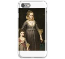 Paul van Somer, Lady Cavendish, Later Countess of Devonshire and her Daughter, iPhone Case/Skin