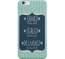 Signed Sealed Delivered Navy iPhone Case/Skin