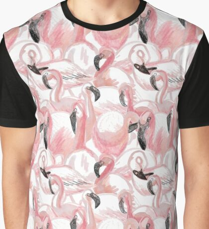 All the Flamingos - Pattern Graphic T-Shirt