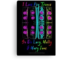 Psy Trance Love Canvas Print