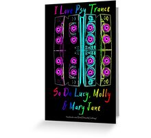 Psy Trance Love Greeting Card
