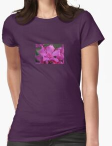 Pink Oleander Flower With Green Leaves in the Background  T-Shirt