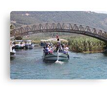 Boat Tour Along the Azmak, Akyaka Turkey Canvas Print