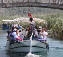 Boat Tour Along the Azmak, Akyaka Turkey Sticker