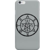 ASTAROTH - distressed black iPhone Case/Skin