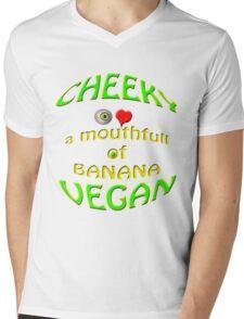 cheeky vegan , i love a mouthfull of banana Mens V-Neck T-Shirt