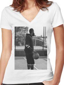 james harden Women's Fitted V-Neck T-Shirt