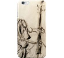 Femme contrebassiste 1 iPhone Case/Skin