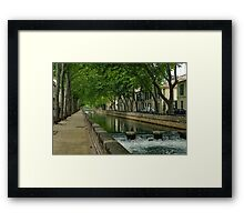 Pathway through Nimes  Framed Print