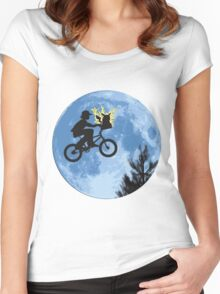 ET movie mashup with Pokemon Women's Fitted Scoop T-Shirt