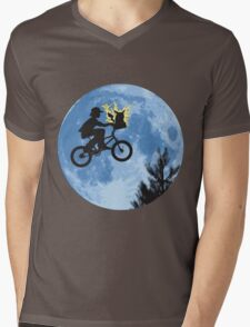 ET movie mashup with Pokemon Mens V-Neck T-Shirt