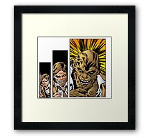 Bigby wolf transformation sequence, from fables / the wolf among us Framed Print