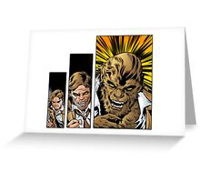 Bigby wolf transformation sequence, from fables / the wolf among us Greeting Card