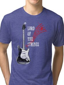 electric guitar, Lord Of The Strings Tri-blend T-Shirt