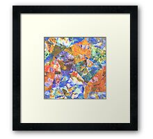 Artistic Stylish Colorful Polygon Mosaic Pattern Framed Print