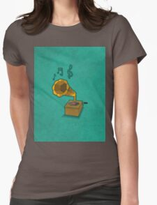 Geometrically Designed Gramophone! Womens Fitted T-Shirt