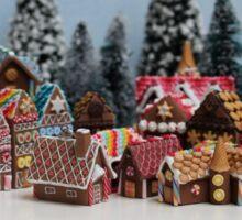 Miniature Gingerbread House Town Sticker