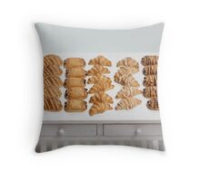 Miniature Croissants for Breakfast Throw Pillow