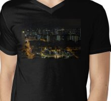 Bugis Junction, Sultan Mosque and City Lights Mens V-Neck T-Shirt