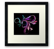 Purple and Pink Colorful Flourish  Framed Print