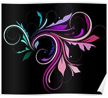 Purple and Pink Colorful Flourish  Poster