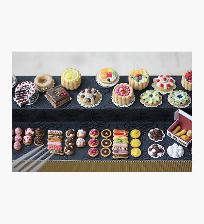 Rainbow Pastry and Cakes Photographic Print