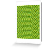 Green Dragon Scales Pattern Greeting Card