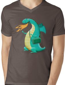 Sunshine Dragon Mens V-Neck T-Shirt