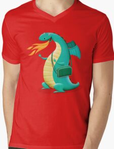 Sunshine Dragon Mens V-Neck T-Shirt