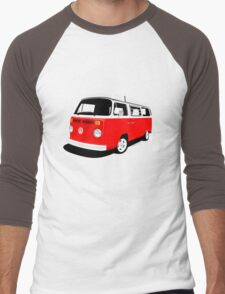 VW Camper Late Bay red and white Men's Baseball ¾ T-Shirt