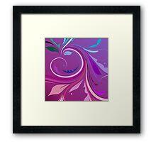 Purple Elegant Floral Swirl Framed Print