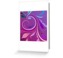 Purple Elegant Floral Swirl Greeting Card