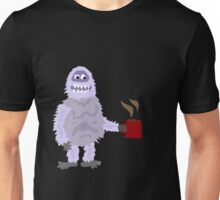 Cool Funny Abominable Snowman is Drinking his Coffee Unisex T-Shirt