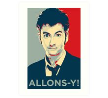 Tenth Doctor - Allons-y Art Print