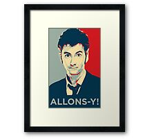 Tenth Doctor - Allons-y Framed Print